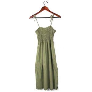 Topshop dress gathered ruched waist boho peasant 6
